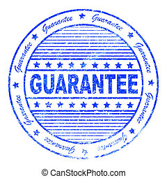 Grunge guarantee rubber stamp