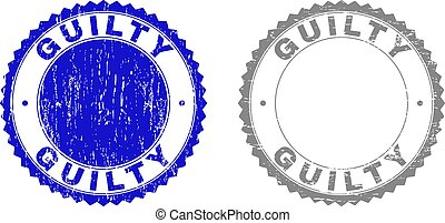 Grunge GUILTY Scratched Stamps