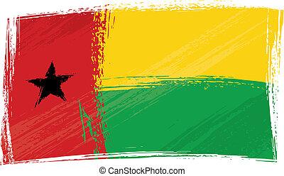 Grunge Guinea-Bissau flag - Guinea-Bissau national flag...