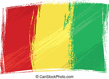 Grunge Guinea flag