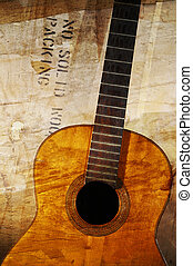 grunge, guitarra acústica