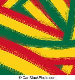 grunge, gul, grön, bakgrund, röd