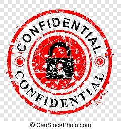 grunge, gummi, vektor, effekt, hintergrund, rotes , durchsichtig, briefmarke, vertraulich, kreis, einfache