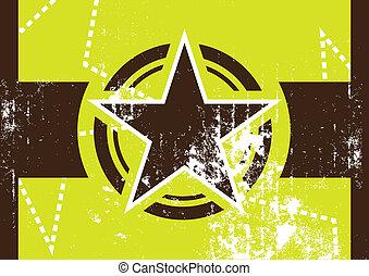 grunge, gwiazda, retro, tło