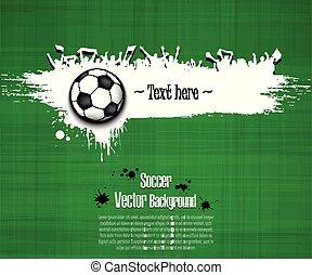 grunge, háttér., focilabda, és, labdarúgás, rajongó