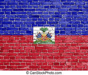 Grunge Haiti flag