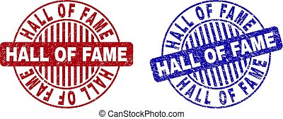 Grunge HALL OF FAME Scratched Round Watermarks