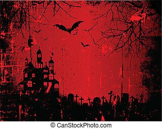 grunge, halloween, achtergrond