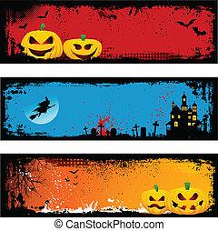 grunge, halloween, arrière-plans