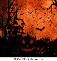 Grunge Halloween background - Grunge style Halloween ...