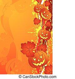 Halloween background - Grunge Halloween background with...