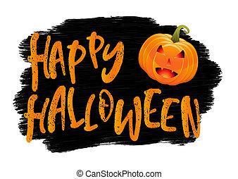 Grunge Halloween background with pumpkin