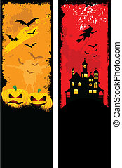 Grunge Halloween backgrounds - Two designs of grunge style...