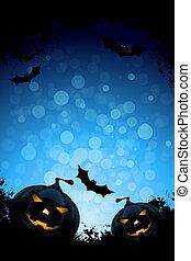 grunge, halloween, bakgrund, parti