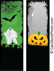 Grunge Halloween banners - Two designs of grunge Halloween...