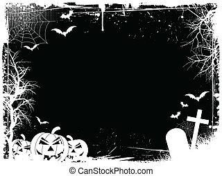 Grunge halloween border - Grunge Halloween border