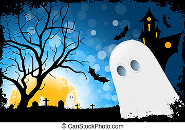 Grunge Halloween Card