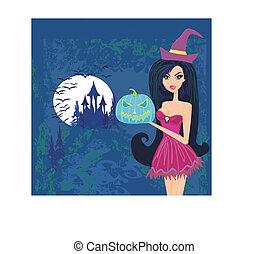 grunge halloween witch