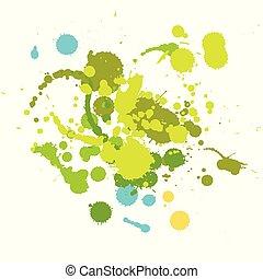 Grunge hand made Ink drop elements