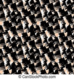 Grunge hand painted abstract pattern with bold textured brushstrokes in bold various colors, black, beige, white. Seamless vector for winter fall fashion