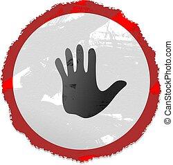 grunge hand sign