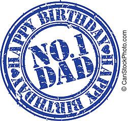 Grunge happy birthday dad, vector
