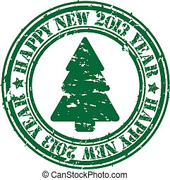 Grunge happy new 2013 year rubber s