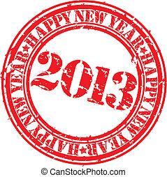 Grunge happy new 2013 year, vector