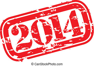 Grunge happy new 2014 year rubber s