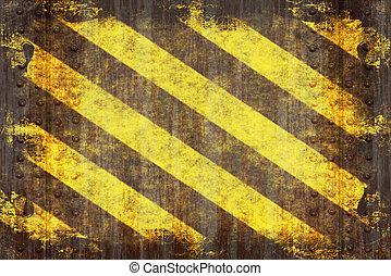 Grunge Hazard Stripes - A hazard stripes texture with ...