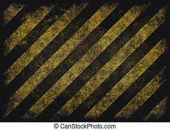 grunge hazard stripes - old grungy yellow hazard stripes on...