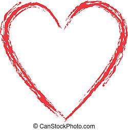 Grunge style heart