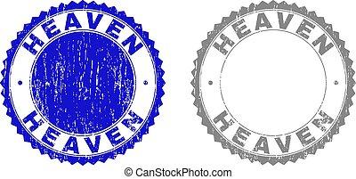 Grunge HEAVEN Scratched Watermarks