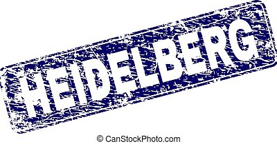 Grunge HEIDELBERG Framed Rounded Rectangle Stamp