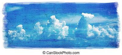 grunge, himmel, baggrund