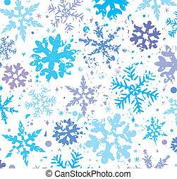 grunge, hiver, fond, flocons neige