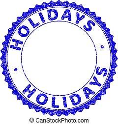 Grunge HOLIDAYS Textured Round Rosette Stamp Seal