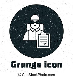 grunge, homme, monochrome, arrière-plan., vecteur, ...