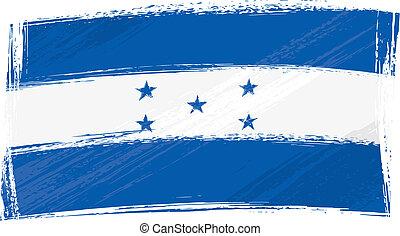 Grunge Honduras flag - Honduras national flag created in...