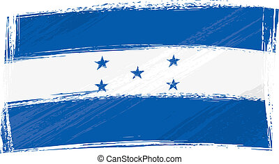 Grunge Honduras flag - Honduras national flag created in...