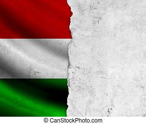 grunge, hongarije vlag