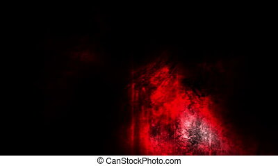 Grunge horror red white and black looping animated background