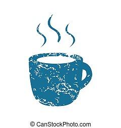 Grunge hot drink icon