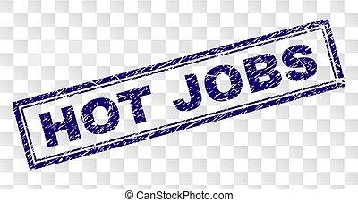 Grunge HOT JOBS Rectangle Stamp
