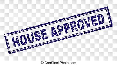 Grunge HOUSE APPROVED Rectangle Stamp