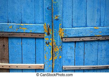 grunge, houten, abstract, textuur, achtergrond, deur