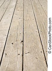grunge, houtenvloer, met, oud, spijkers
