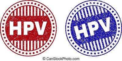Grunge HPV Textured Round Stamp Seals