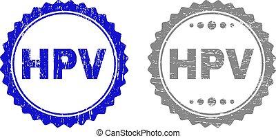 Grunge HPV Textured Stamp Seals