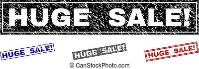Grunge HUGE SALE! Textured Rectangle Stamp Seals